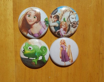 Tangled Rapunzel pin buttons Set 1""