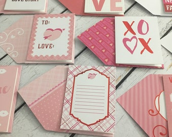 Assorted Valentine's Day cards 3x4 with matching envelopes (10)