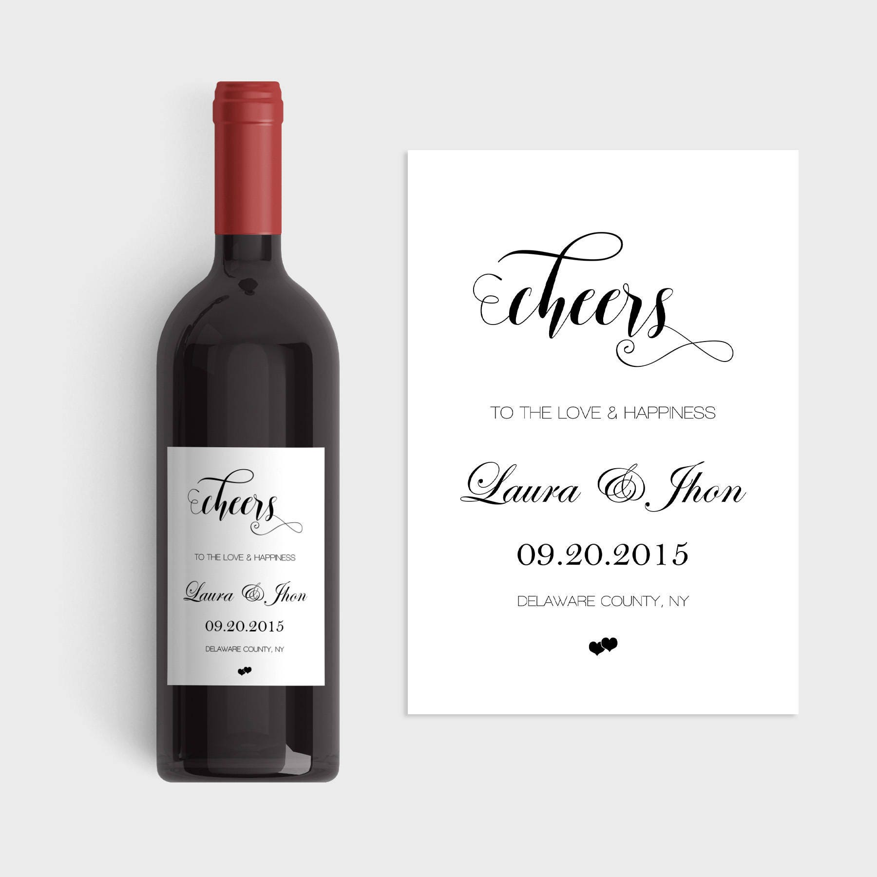 Wedding Wine Labels Wedding Wine Label Template Cheers Wine