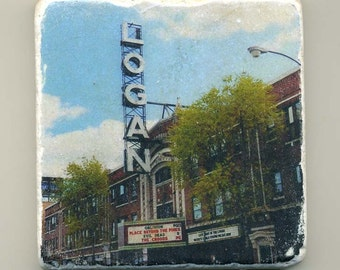 Logan Theater in Chicago -  Original Coaster