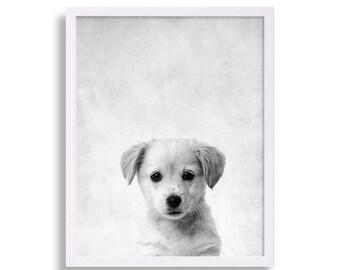 Yellow Lab Print Dog Portrait Puppy Print Dog Art Pet Art Nursery Art Nursery Decor Nursery Print Baby Animal Decor Modern Art