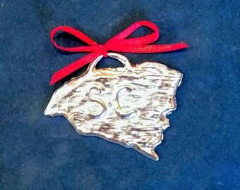 Pewter South Carolina Ornament (SC)