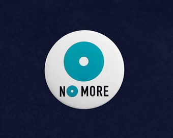 No More Domestic Violence Awareness Button Pin - Retail (RE-P-20-NM)