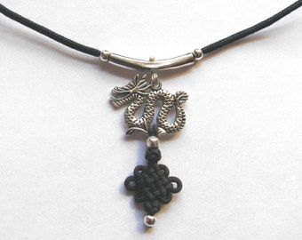Celtic dragon necklace