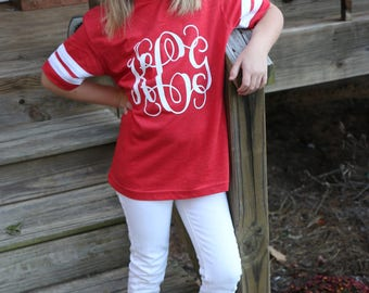 Football Jersey Tees + Spirit Wear + Monogrammed    Southernstitchco.