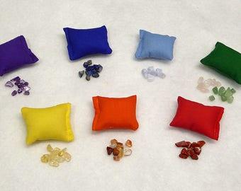 Mini Crystal Filled Chakra Pillows