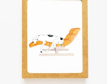 Pets and Famous Furniture Boxed Notes - Dane on Chaise Set of 8