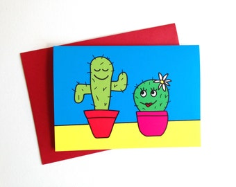 Valentines Cactus Card, Funny Birthday Card, Fun Cacti Card, Cute Anniversary Card, Plant Card, Funny Cactus Love Card, Cute Plants