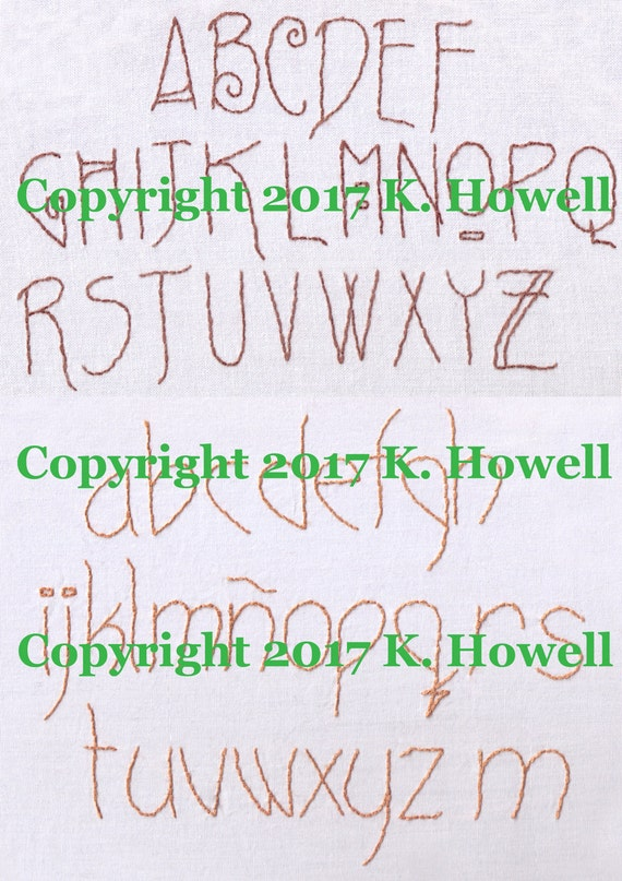 Craftsman revisited upper and lower case font hand embroidery malvernweather Image collections