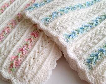 Crochet Pattern - Avalon Baby Blanket - Baby Afghan Babyghan - Throw Blanket or Lapghan Pattern - PDF Format
