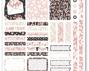 XOXO Decorating Kit / Weekly Spread Planner Stickers for Erin Condren Planner, Filofax, Plum Paper