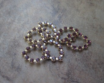 6 Components, Swarovski crystal and gold-plated brass, amethyst, 13x9mm oval.- JD224