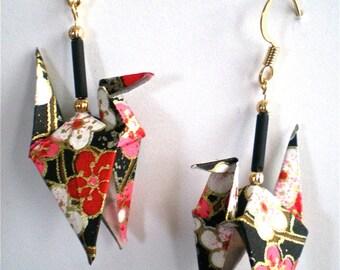 Plum Stars Crane Earrings