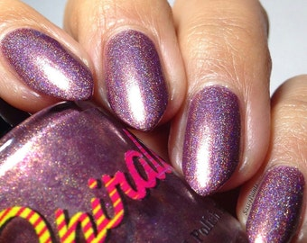 Mamacita Rica. Rose linear holo nail polish. (15 mL, .5 oz)