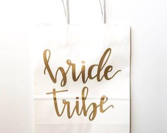 Bride Tribe Gift Bags • CUSTOM Bridesmaids Bags • Wedding Bags