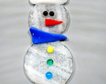 SNOWMAN SNOWMAN stained glass fusing
