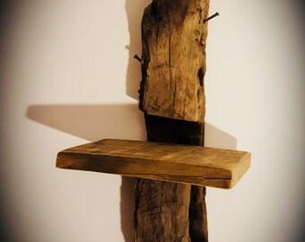 Solid oak driftwood shelf
