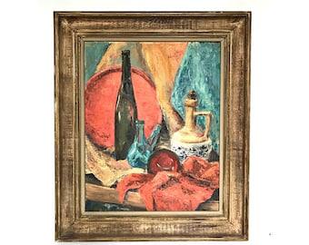 Still Life Painting -- Vintage Still Life Painting -- Still Life Art -- Still Life Vintage Painting -- Vintage Painting --Vintage Still Life