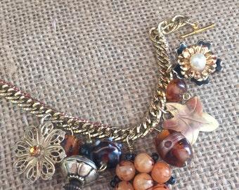 Upcycled vintage gold bracelet