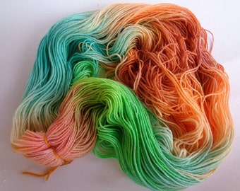 Hand Dyed Yarn, Mermaid - SW Merino/Nylon Fingering Wt.