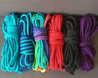 Rainbow hemp rope