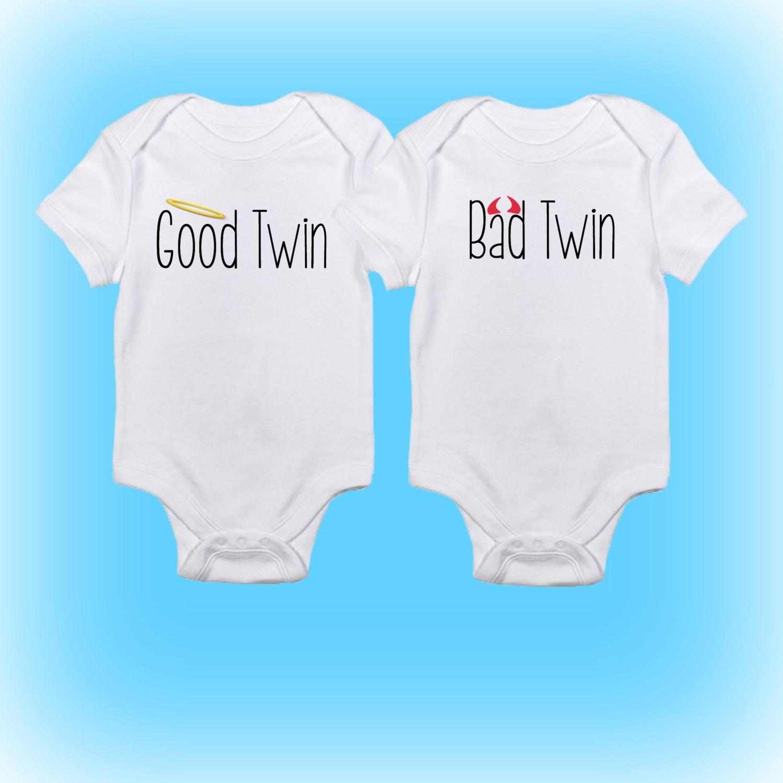 Twin Onesies® Good Twin Bad Twin Onesies Cute Twin Onesies