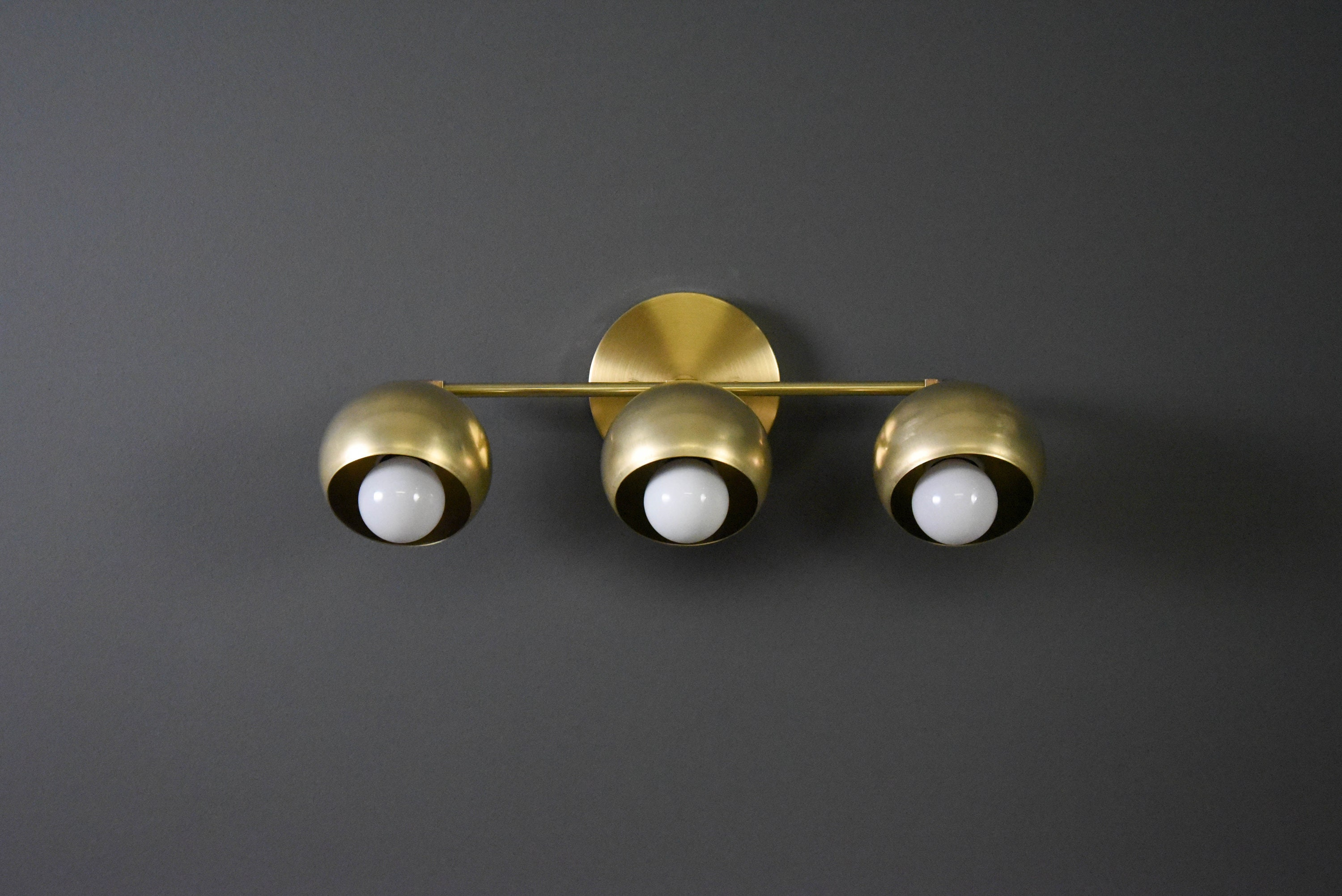 raw gold art mid sconce light bathroom modern ul brass century vanity spherical listing industrial rrwk orb il wall listed fullxfull