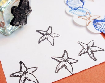 Starfish  Rubber Stamp - Handmade by BlossomStamps