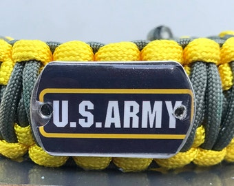 Army Military Paracord Bracelet, Military All Branches available