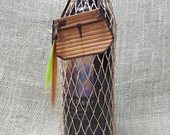 Fishing Net Gift Wine  Bag - Fly and Creel