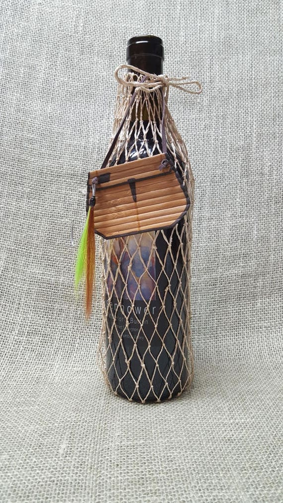 Fishing Net Gift Wine  Bag - Fly and Creel