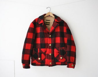 Wool Red Buffalo Plaid Jacket 42