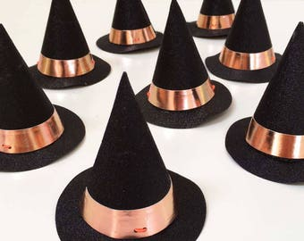 Halloween Party Hats, Mini Witch Party Hats (8) Meri Meri Halloween Decor, Kids Halloween Supplies, Toddler Halloween Party Decoration