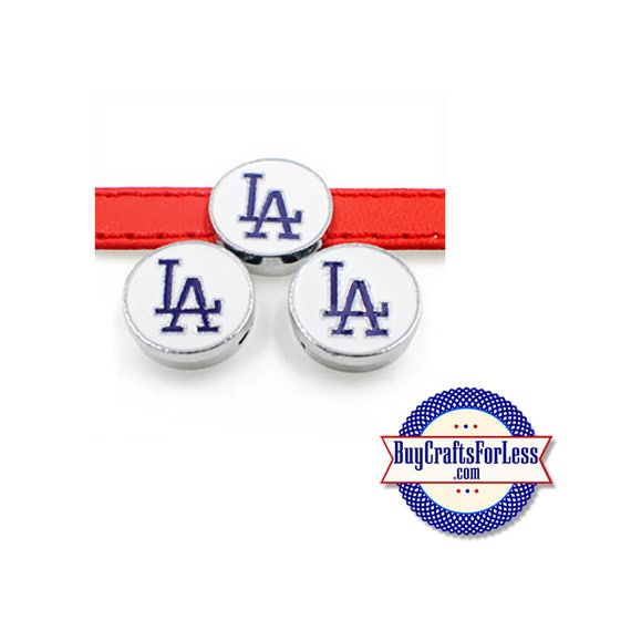 LOS ANGELES Charm, Dodgers Charm for 8mm Slider Bracelets, Collars, Key Rings +FREE Shipping & Discounts*