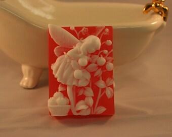 strawberry fairy soap glycerin soap fairy decorative soap cranberry seeds