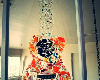 Recycled Glass Guitar Window