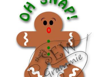 OH SNAP Gingerbread Man SVG