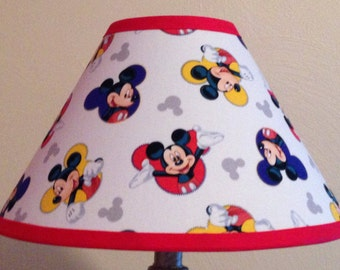 Children lamp etsy disney mickey mouse fabric childrens lamp shadechildrens gift aloadofball Gallery