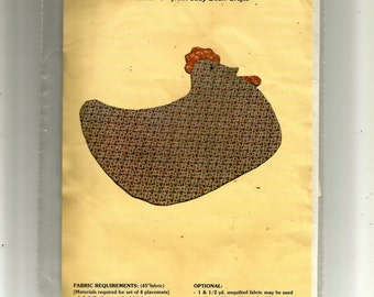 Hen Placemat Pattern