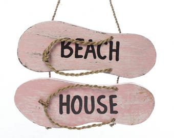 Beach House Flip-Flop Sign