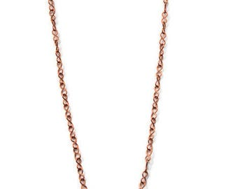 Hand Crafted Copper Necklace - SOLID COPPER CHAIN -  Figure 8 Copper Chain - Ideal for holding Pendants - Perfect gift for Christmas!
