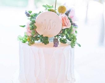 PERSONALIZED Ceramic Modern Wedding Cake Topper