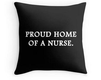 Nurse Pillow, Nurse Quote, Nurse Gift, RN Quote, Gifts for Nurses, Inspirational Nurse Pillow, Nursing Student Gift, RN Gifts, Nurse