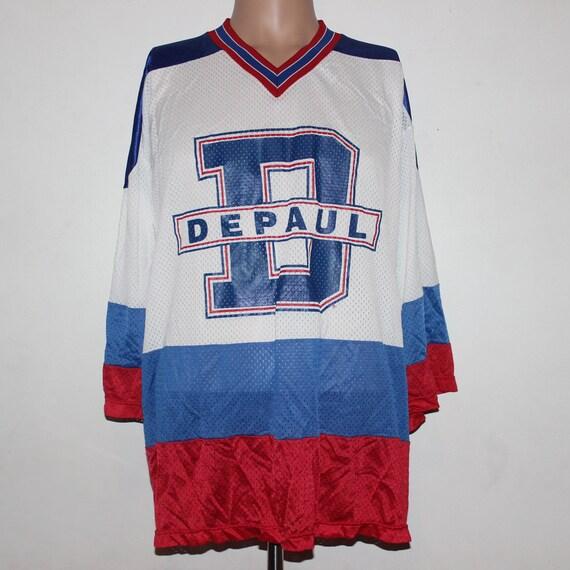 6c6740acb8c Vintage DePaul Blue Demons NCAA Hockey Jersey L