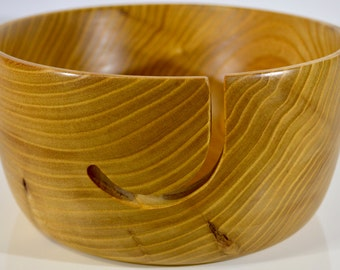 854 Yarn bowl, made from figured Elm