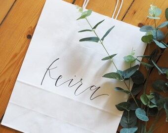 Custom Gift Bag | Modern Calligraphy