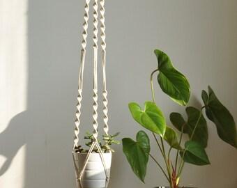 long macrame plant holder, indoor plant hanger, hanging planter, macrame holder, indoor garden planter, boho wedding, boho decor, nursery
