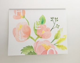 Hand- Painted Watercolor Stationery