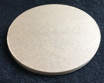 6 Inch Chipboard Circle Die Cuts-6 Circles Blanks-Unfinished- Decoration-Raw Chipboard Circle Shapes-Altered Art Blanks-Large Circles-Canvas