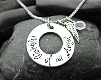 Mommy of an Angel - Memorial / Remembrance Necklace